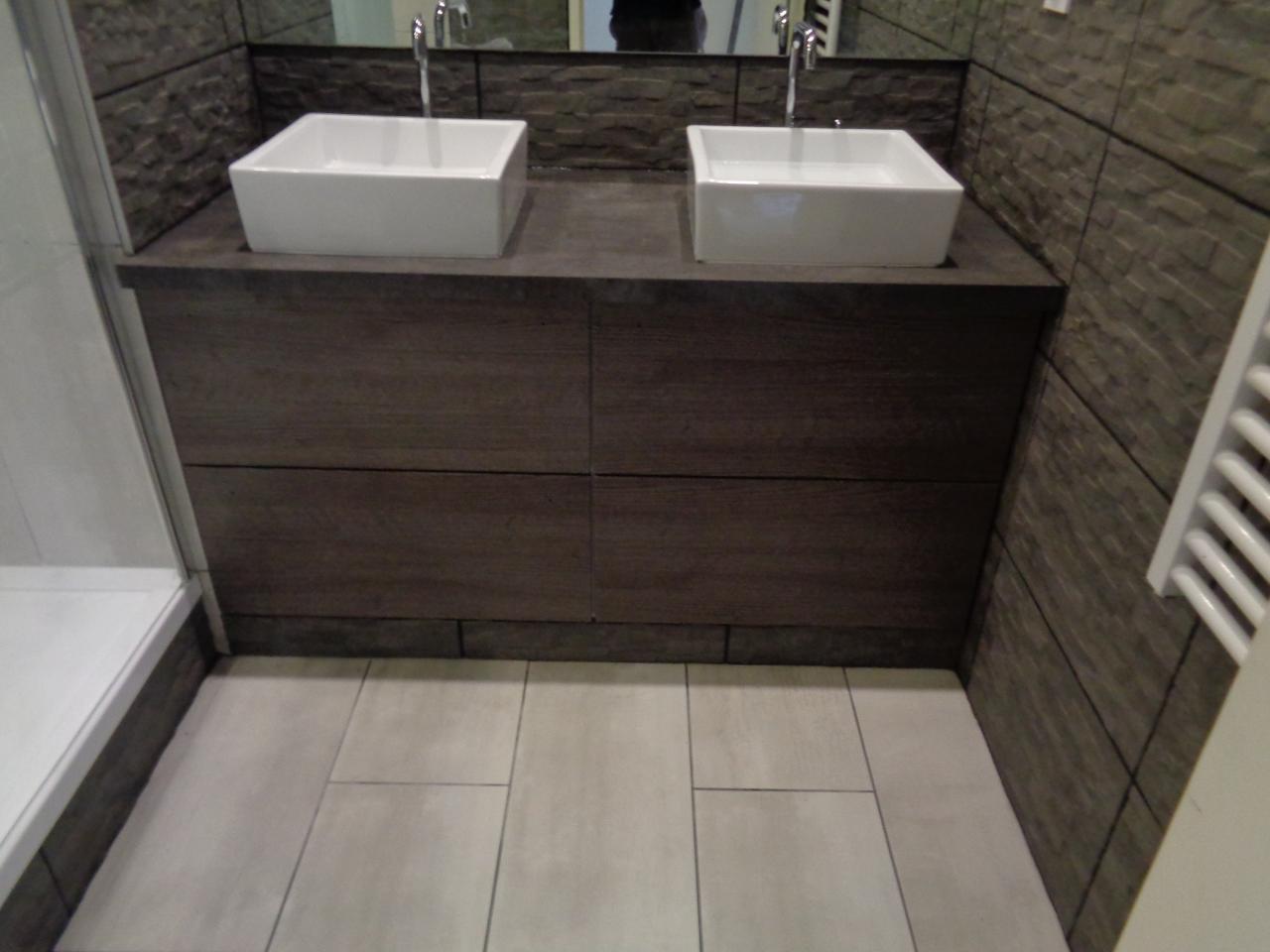 vasque sur mesure. great meuble et vasque salle de bain hauts les